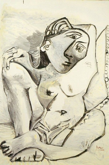 1969 Jacqueline Е loreiller. Pablo Picasso (1881-1973) Period of creation: 1962-1973
