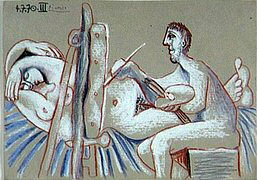 1970 Le peintre et son modКle 1. Pablo Picasso (1881-1973) Period of creation: 1962-1973