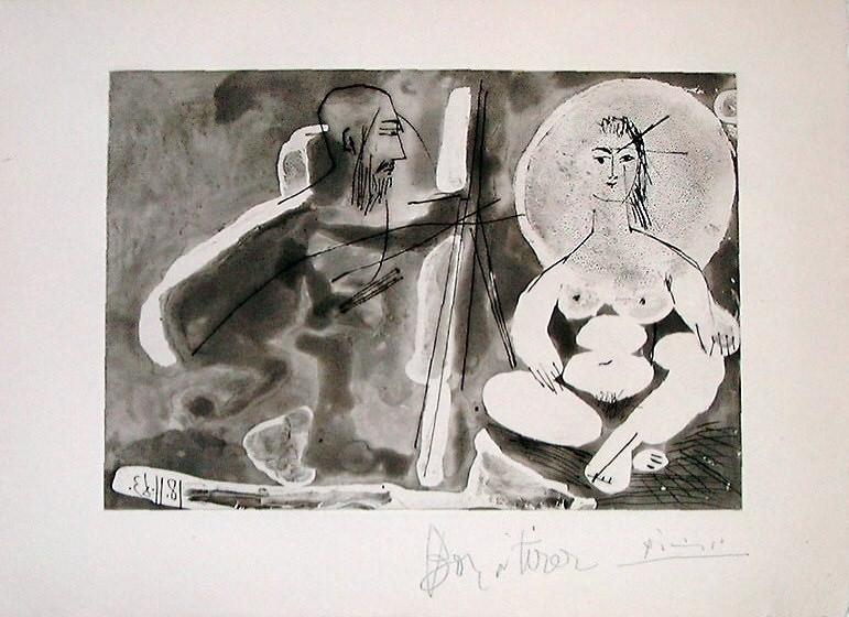 1963 Le peintre et son modКle 3. Pablo Picasso (1881-1973) Period of creation: 1962-1973