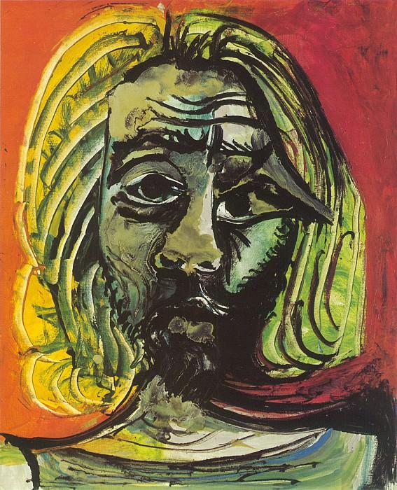 1971 TИte dhomme 7. Пабло Пикассо (1881-1973) Период: 1962-1973