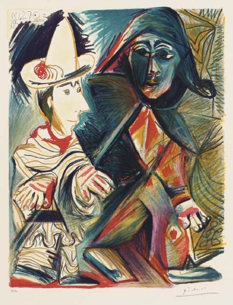 1970 Pierrot et arlequin. Pablo Picasso (1881-1973) Period of creation: 1962-1973