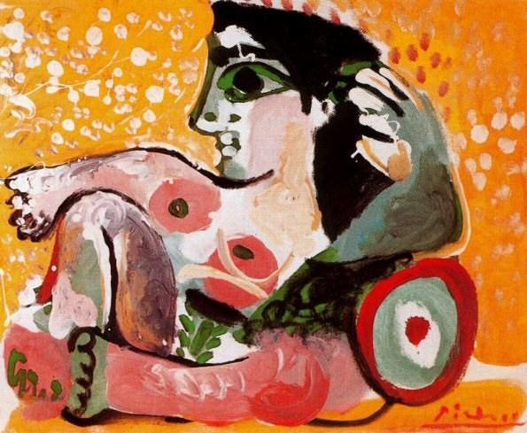 1964 Femme nue assise appuyВe sur des coussins. Pablo Picasso (1881-1973) Period of creation: 1962-1973
