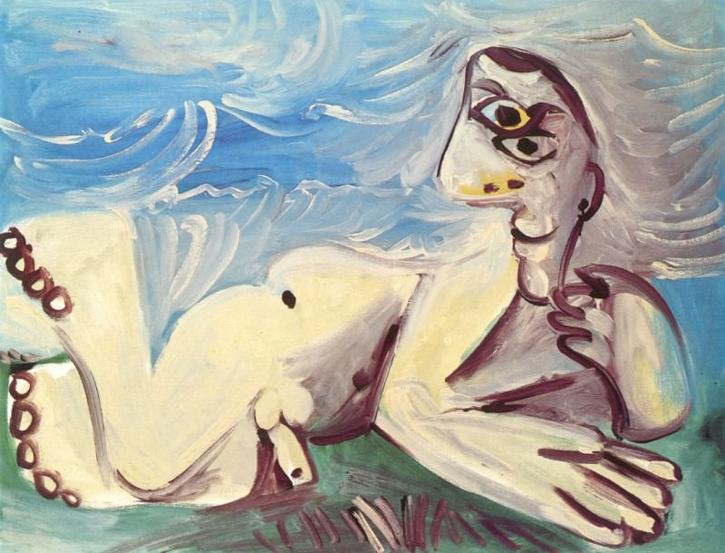 1971 Homme nu couchВ. Pablo Picasso (1881-1973) Period of creation: 1962-1973