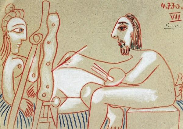 1970 Le peintre et son modКle 3. Pablo Picasso (1881-1973) Period of creation: 1962-1973