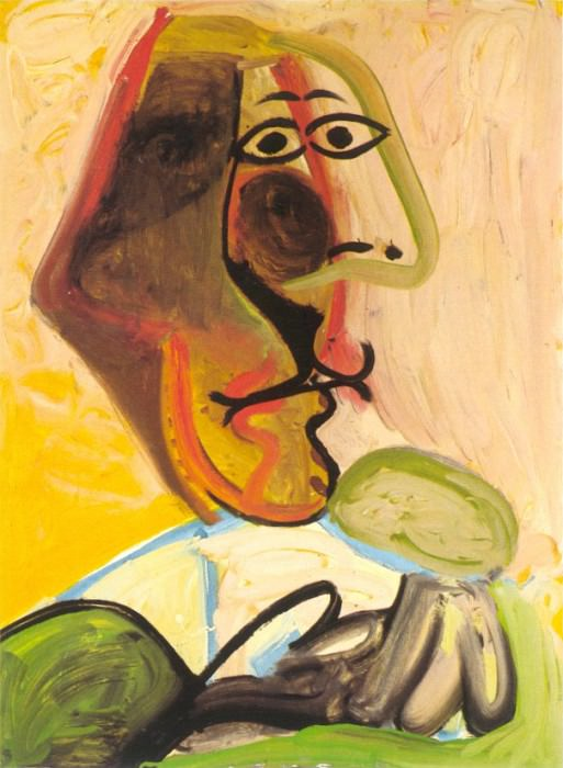 1971 Buste dhomme 1. Pablo Picasso (1881-1973) Period of creation: 1962-1973