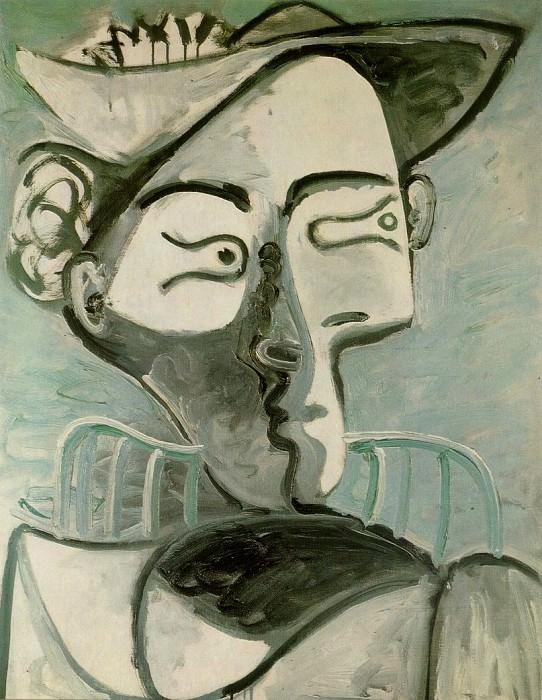 1962 Femme assise au chapeau. Pablo Picasso (1881-1973) Period of creation: 1962-1973