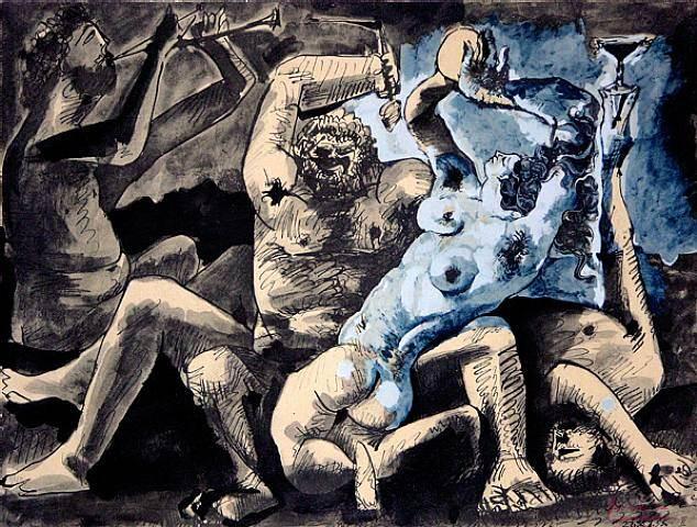 1967 Bacchanale. Пабло Пикассо (1881-1973) Период: 1962-1973