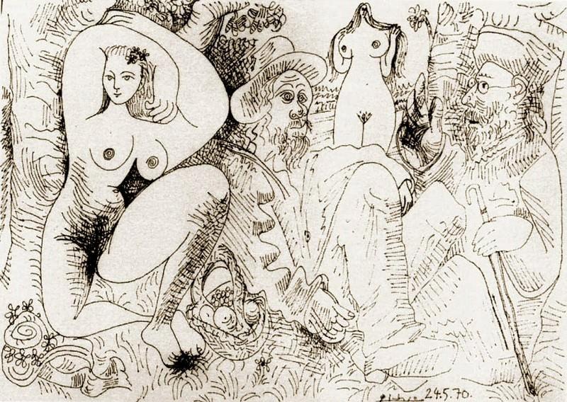 1970 Le dВjeuner sur lherbe. Пабло Пикассо (1881-1973) Период: 1962-1973