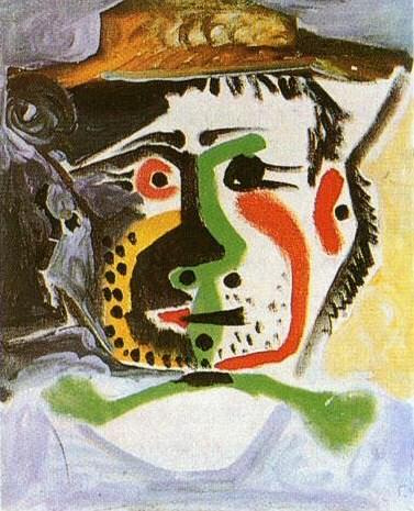 1964 TИte dhomme au chapeau. Pablo Picasso (1881-1973) Period of creation: 1962-1973