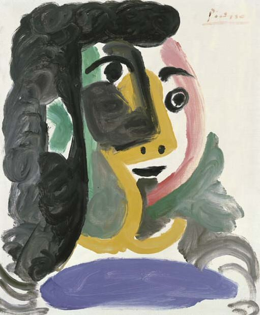1964 TИte de femme. Pablo Picasso (1881-1973) Period of creation: 1962-1973