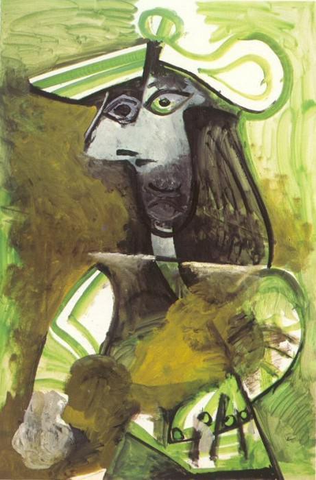 1971 Femme au chapeau 2. Pablo Picasso (1881-1973) Period of creation: 1962-1973