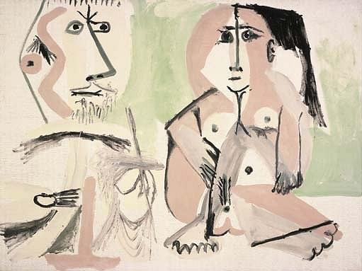 1964 Le peintre et som modКle 6. Pablo Picasso (1881-1973) Period of creation: 1962-1973