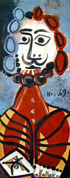 1969 Buste dhomme 1. Pablo Picasso (1881-1973) Period of creation: 1962-1973