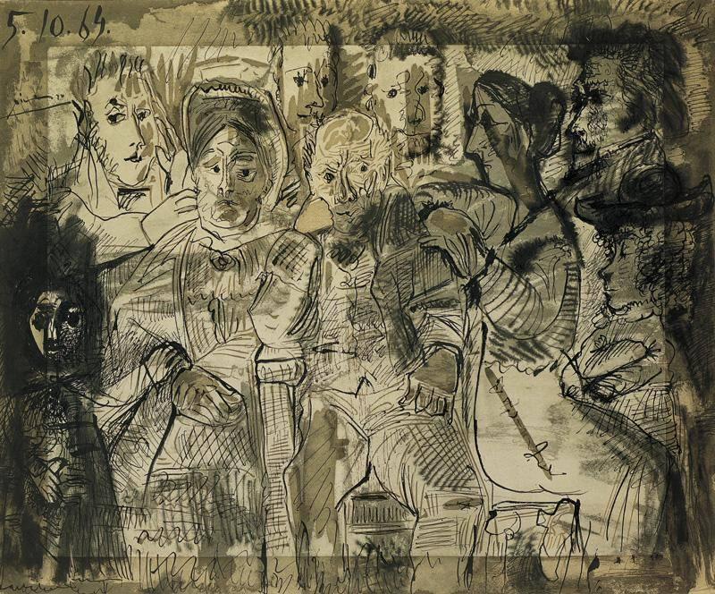 1964 Tableau de famille. Pablo Picasso (1881-1973) Period of creation: 1962-1973
