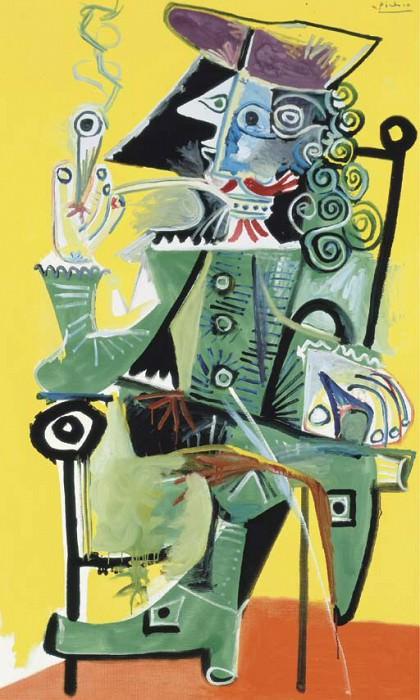 1968 Mousquetaire Е la pipe 3. Pablo Picasso (1881-1973) Period of creation: 1962-1973