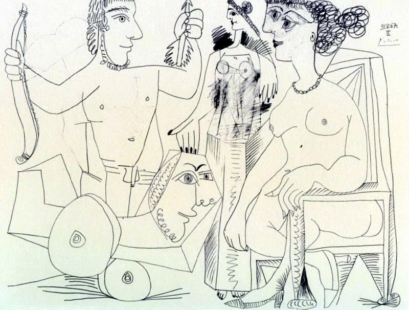 1967 Retour du guerrier. Pablo Picasso (1881-1973) Period of creation: 1962-1973