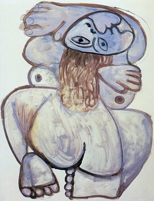 1971 Nu accroupi. Pablo Picasso (1881-1973) Period of creation: 1962-1973