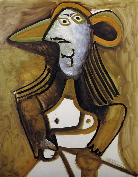 1971 Femme au chapeau. Pablo Picasso (1881-1973) Period of creation: 1962-1973