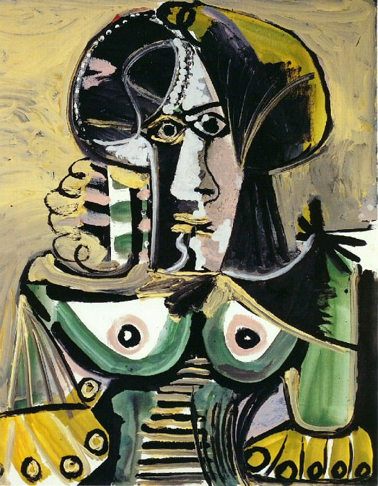 1971 Buste de femme 4. Pablo Picasso (1881-1973) Period of creation: 1962-1973