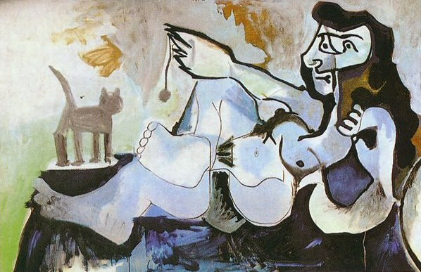 1964 Femme nue couchВe jouant avec un chat. Pablo Picasso (1881-1973) Period of creation: 1962-1973