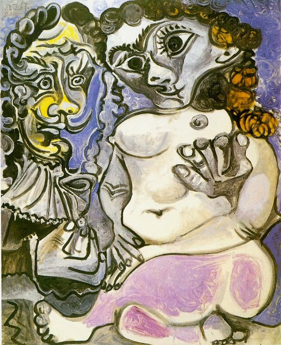 1967 Homme et femme nue 2. Pablo Picasso (1881-1973) Period of creation: 1962-1973