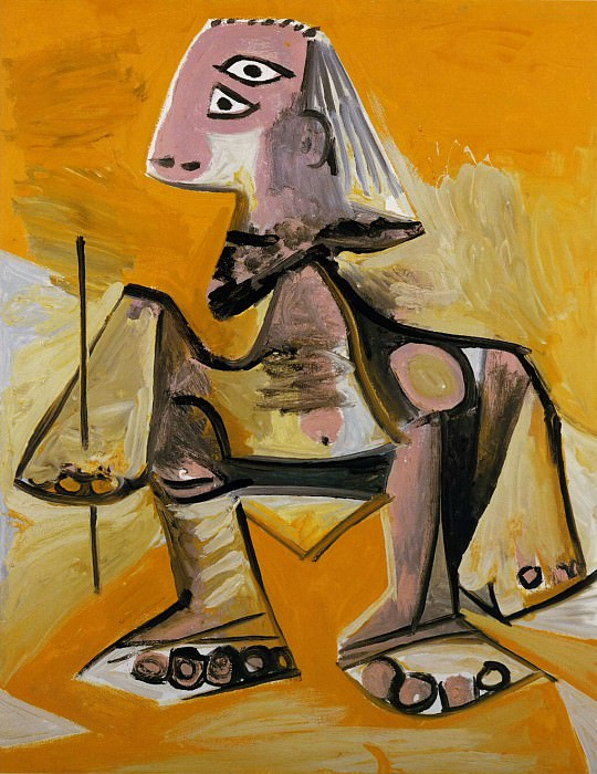1971 Homme accroupi. Pablo Picasso (1881-1973) Period of creation: 1962-1973