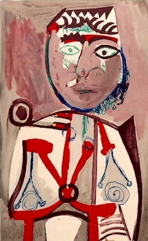 1970 Personnage. Pablo Picasso (1881-1973) Period of creation: 1962-1973