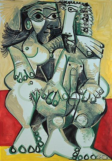 1968 Homme et femme nus. Пабло Пикассо (1881-1973) Период: 1962-1973