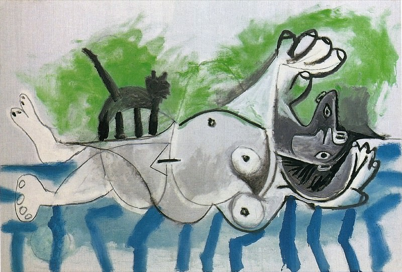1964 Nu couchВ et chat IV. Pablo Picasso (1881-1973) Period of creation: 1962-1973