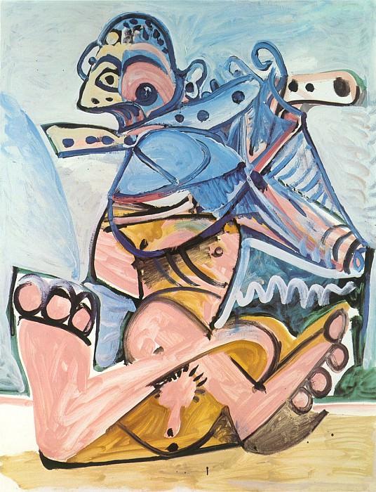 1971 Homme assis jouant de la flЦte. Pablo Picasso (1881-1973) Period of creation: 1962-1973