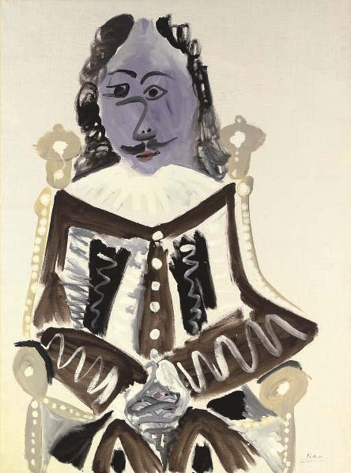 1967 Mousquetaire assis. Pablo Picasso (1881-1973) Period of creation: 1962-1973