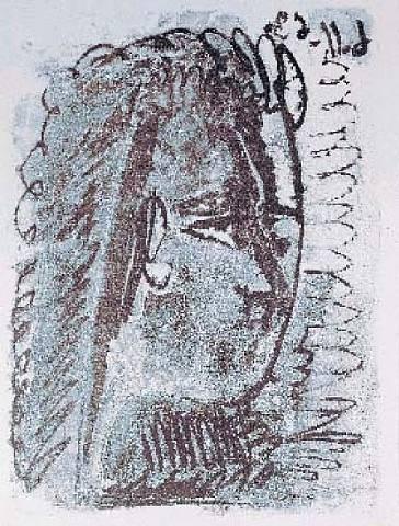 1963 Femme de profil droit. Пабло Пикассо (1881-1973) Период: 1962-1973