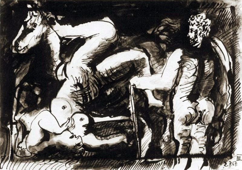 1967 La chute de la cavaliКre. Pablo Picasso (1881-1973) Period of creation: 1962-1973