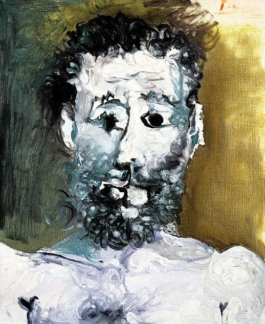 1965 Buste dhomme barbu. Пабло Пикассо (1881-1973) Период: 1962-1973