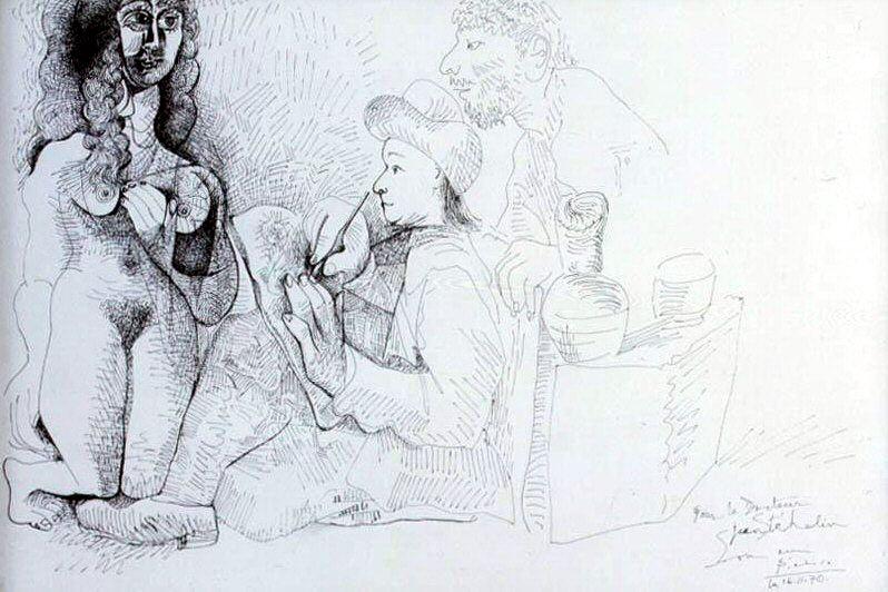 1970 Le peintre et son modКle 6. Pablo Picasso (1881-1973) Period of creation: 1962-1973