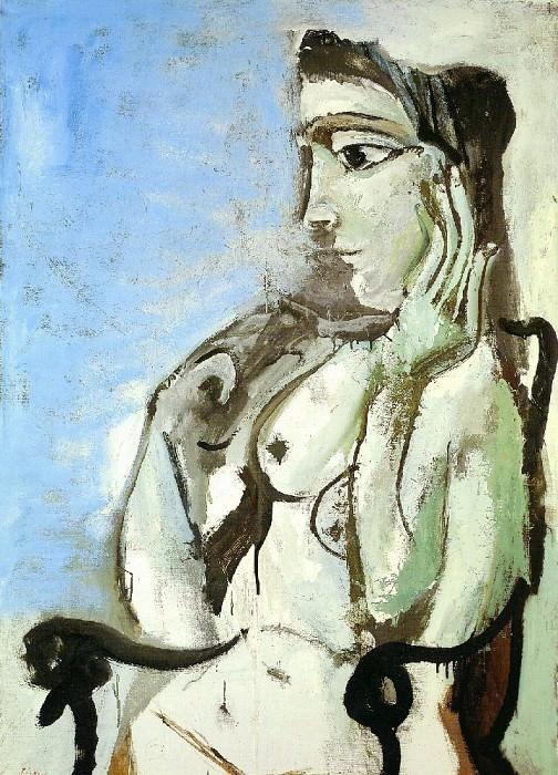 1964 Femme nue assise dans un fauteuil II. Пабло Пикассо (1881-1973) Период: 1962-1973