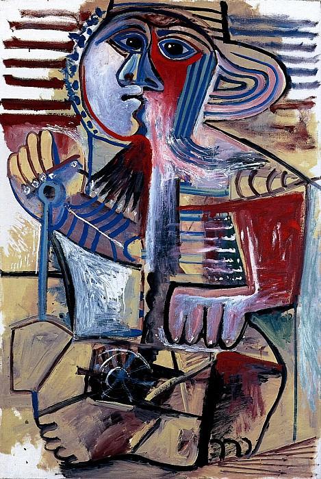 1971 Enfant. Pablo Picasso (1881-1973) Period of creation: 1962-1973 (Personnage Е la pelle)