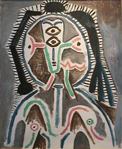 1963 Buste de femme. Пабло Пикассо (1881-1973) Период: 1962-1973