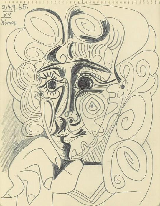 1965 TИte de femme 2. Pablo Picasso (1881-1973) Period of creation: 1962-1973