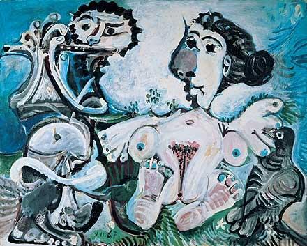 1967 Femme nue Е loiseau et joueur de flЦte. Pablo Picasso (1881-1973) Period of creation: 1962-1973