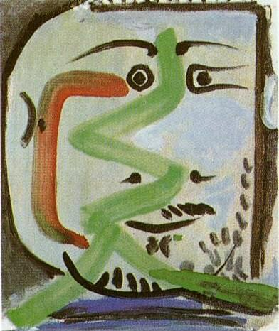 1964 TИte dhomme II. Pablo Picasso (1881-1973) Period of creation: 1962-1973