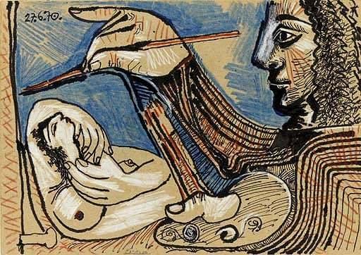 1970 Le peintre et son modКle 5. Пабло Пикассо (1881-1973) Период: 1962-1973