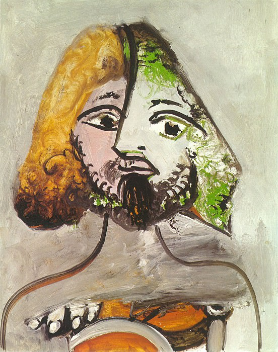 1971 Buste dhomme. Pablo Picasso (1881-1973) Period of creation: 1962-1973