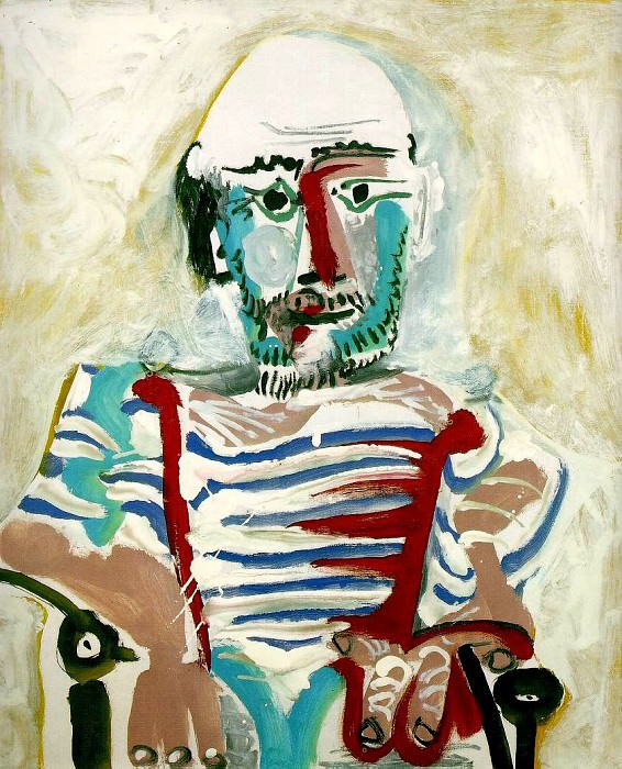 1965 Homme assis (Autoportrait). Pablo Picasso (1881-1973) Period of creation: 1962-1973