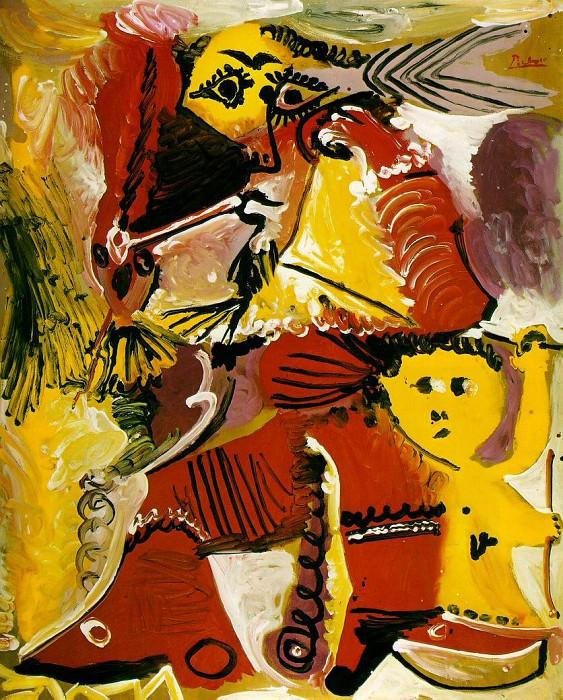 1969 Homme Е la pipe assis et amour 2. Пабло Пикассо (1881-1973) Период: 1962-1973