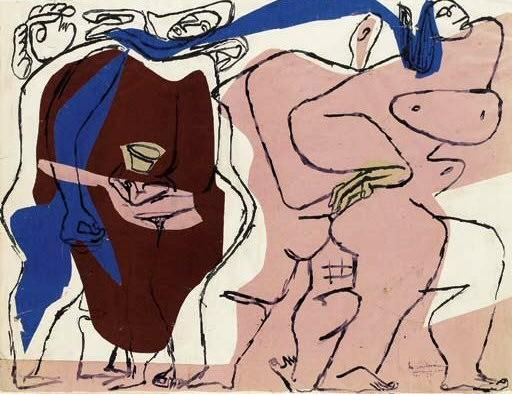 1963 TИte dhomme. Pablo Picasso (1881-1973) Period of creation: 1962-1973