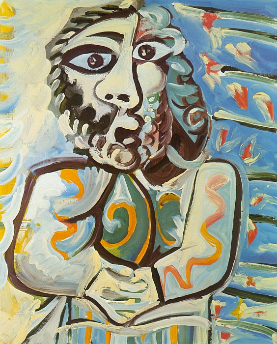 1971 Buste dhomme les mains croisВes. Pablo Picasso (1881-1973) Period of creation: 1962-1973
