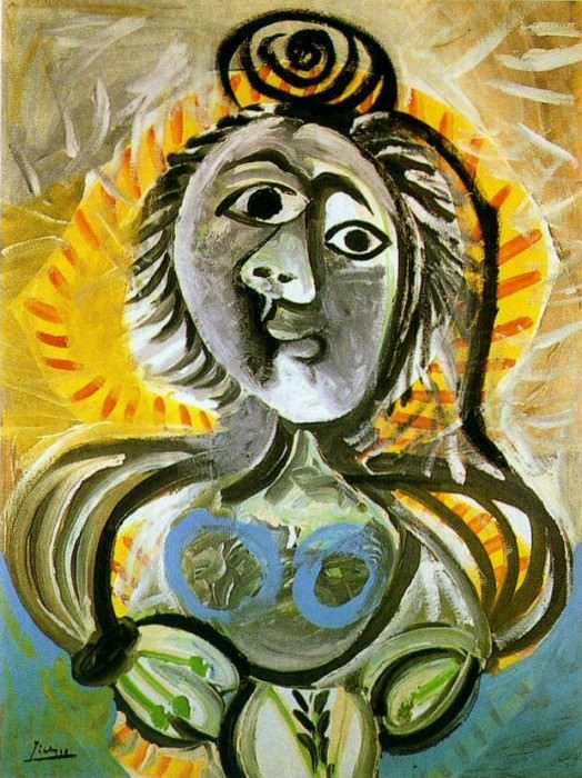 1970 Femme au fauteuil. Pablo Picasso (1881-1973) Period of creation: 1962-1973