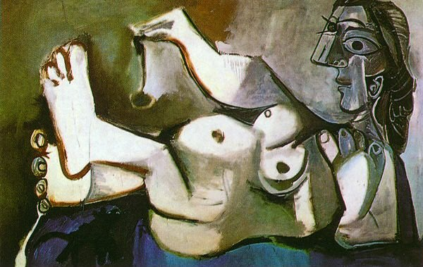 1964 Femme nue couchВe jouant avec un chat 2. Pablo Picasso (1881-1973) Period of creation: 1962-1973