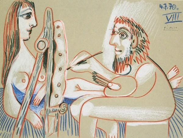 1970 Le peintre et son modКle 9. Pablo Picasso (1881-1973) Period of creation: 1962-1973